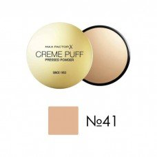Max Factor Creme Puff, Pressed Compact Powder, 041 Medium Beige, 21 g